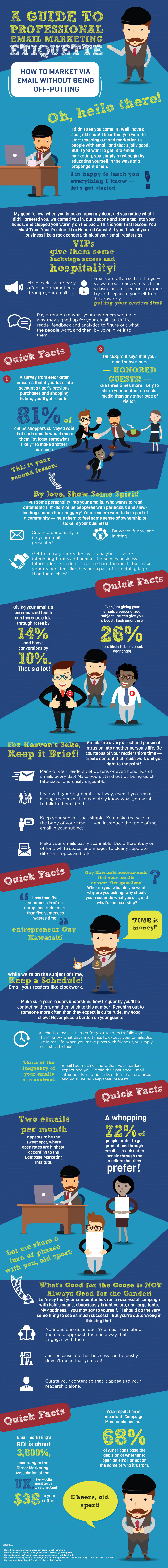 A Guide to Professional Email Marketing Etiquette - BookYourData.com - Infographic