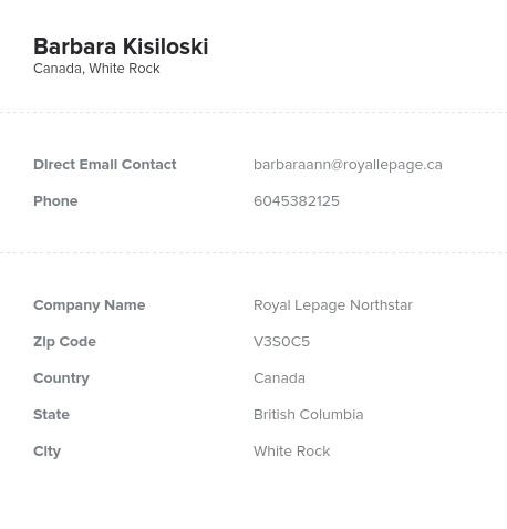 Sample of British Columbia Realtors Email List