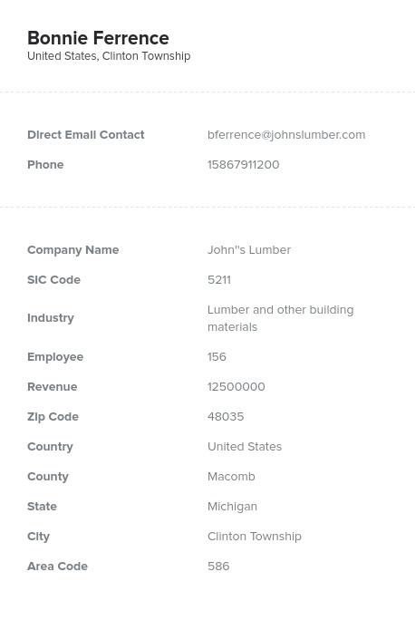 Sample of Building, Hardware, Garden Dealers Email List