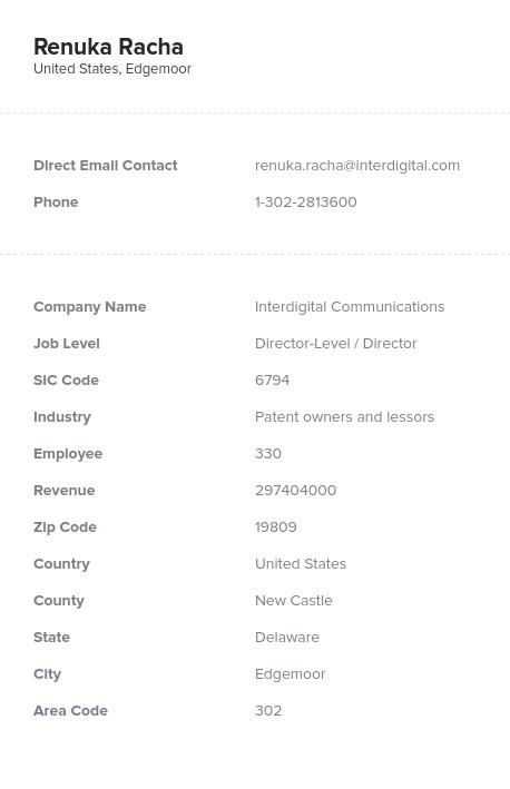 Sample of Delaware Email List