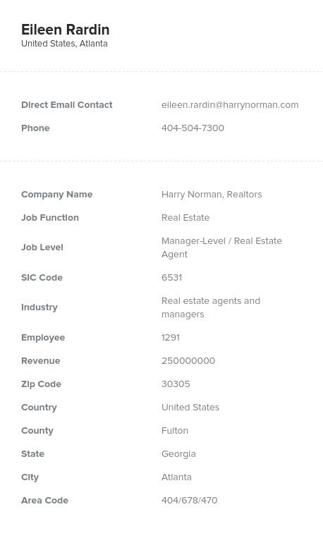 Sample of Georgia Email List