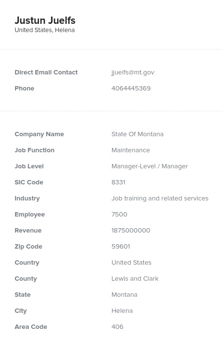 Sample of Maintenance Directors, Managers Email List