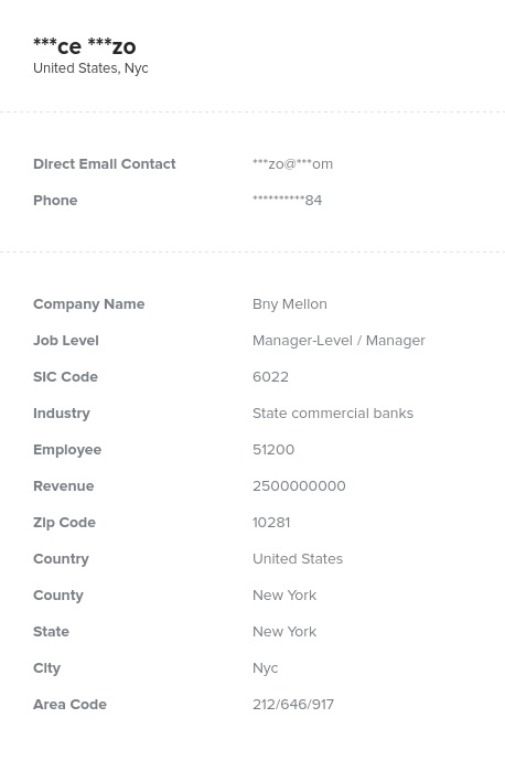 Sample of Manager Email List