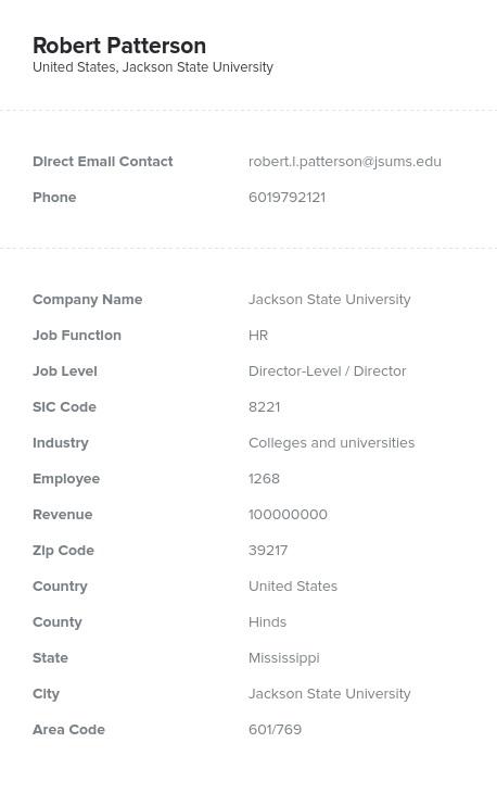 Sample of Mississippi Email List
