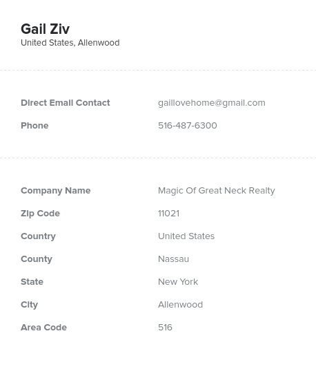 Sample of New York Realtors, Real Estate Agents Email List
