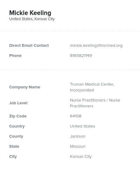 Sample of Nurse Practitioners in the USEmail List