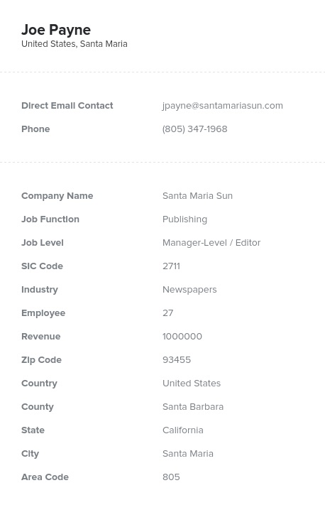 Sample of Printing, Publishing Manufacturers Email List
