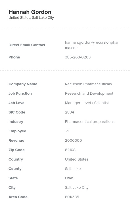 Sample of R&D Directors, Managers Email List