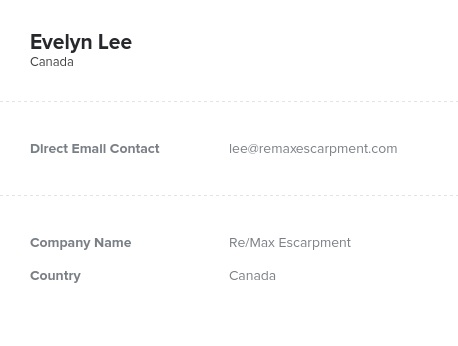 Sample of Real Estate in CanadaEmail List