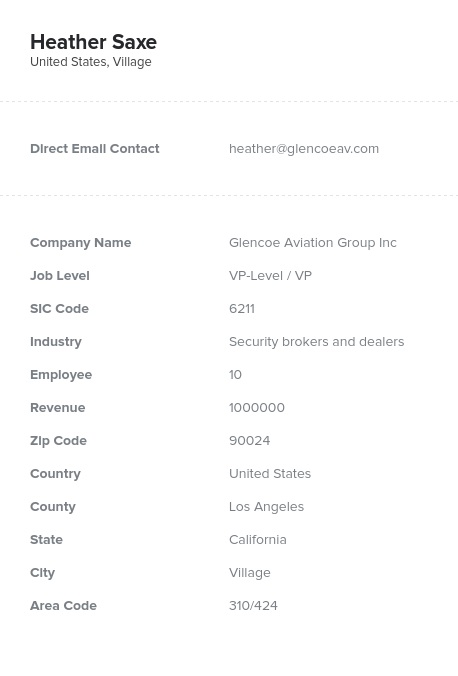 Sample of Security, Commodity Brokers Email List