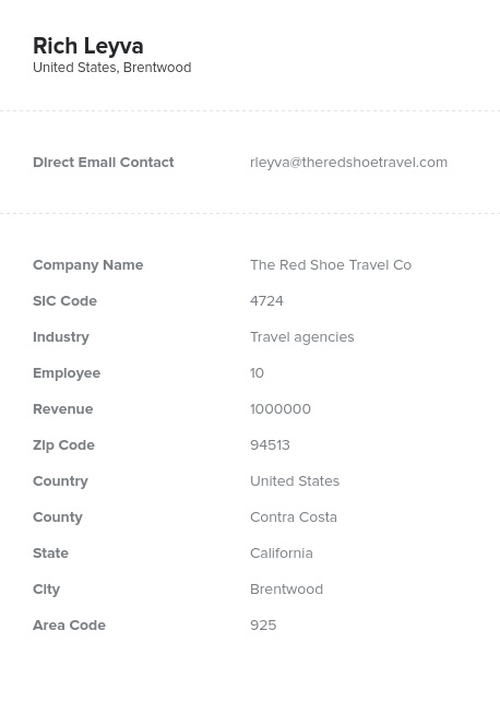 Sample of Tour Operators, Travel Agencies Email List